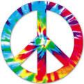 peace symbol tiedye
