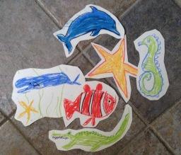 fish pastels