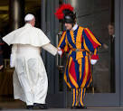 swiss guard and pope