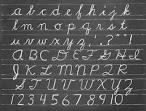 alphabet in chalk