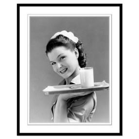 waitress in frame
